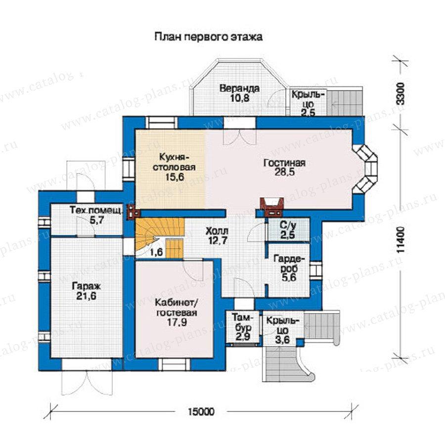 План 1-этажа проекта 37-33