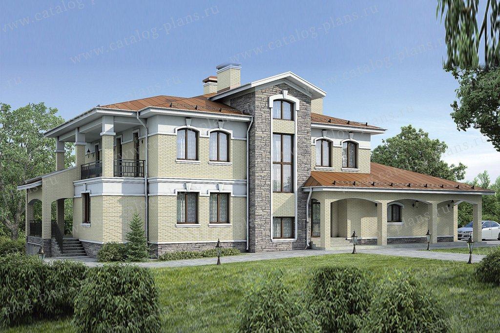 Проект жилой дом #37-60 материал - кирпич, стиль классический