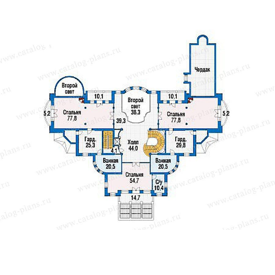 План 3-этажа проекта 39-23