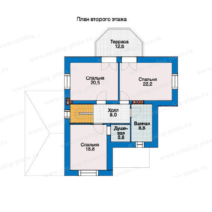 План 2-этажа проекта 37-33