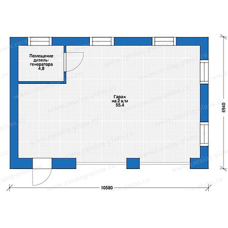 План 1-этажа проекта 39-49