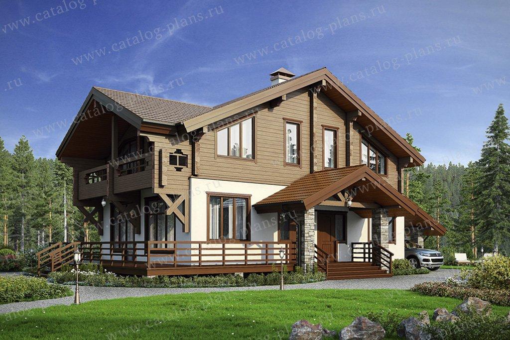 Проект жилой дом #38-76 материал - комбинированный, стиль скандинавский