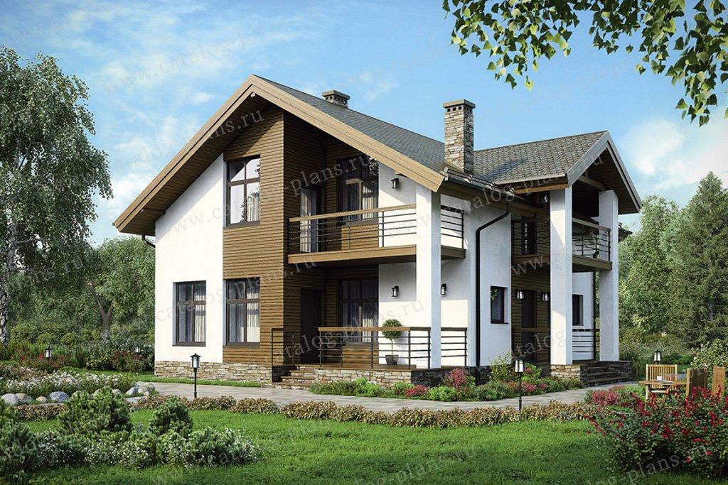 Проект жилой дом #38-92 материал - кирпич, стиль скандинавский