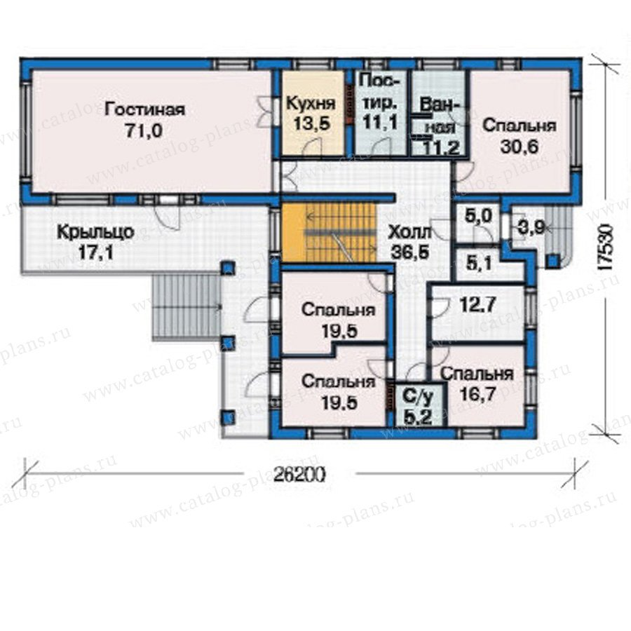 План 2-этажа проекта 38-23