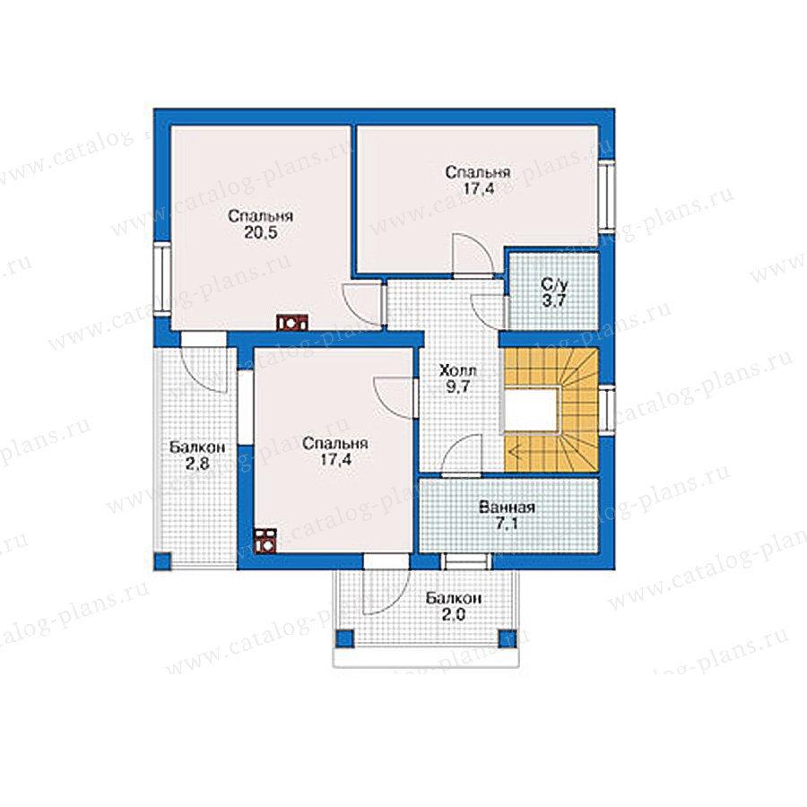 План 2-этажа проекта 38-92