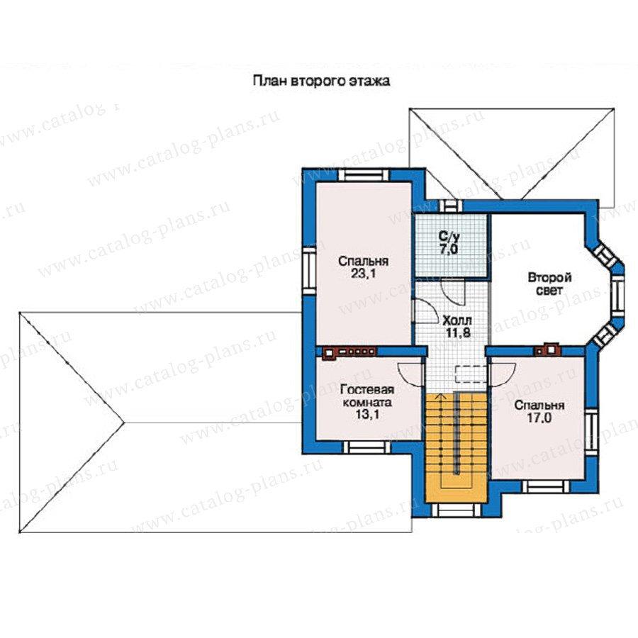 План 2-этажа проекта 38-06