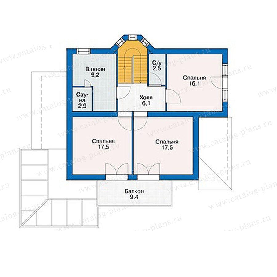 План 2-этажа проекта 37-07