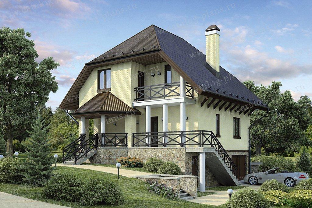 Проект жилой дом #37-58 материал - кирпич, стиль немецкий