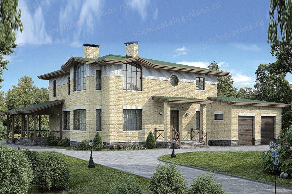 Проект жилой дом #37-16 материал - кирпич, стиль европейский