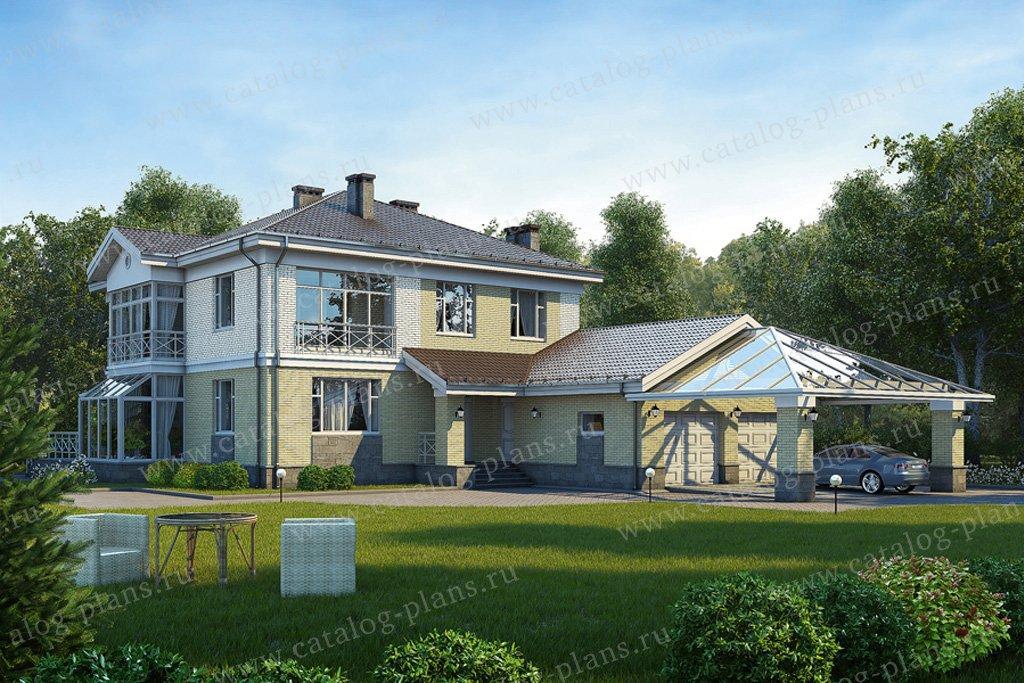 Проект жилой дом #39-63 материал - кирпич, стиль современный