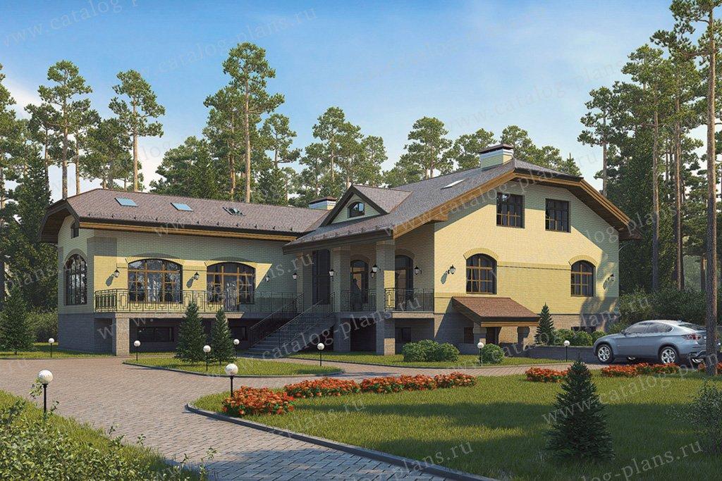Проект жилой дом #38-23 материал - кирпич, стиль европейский