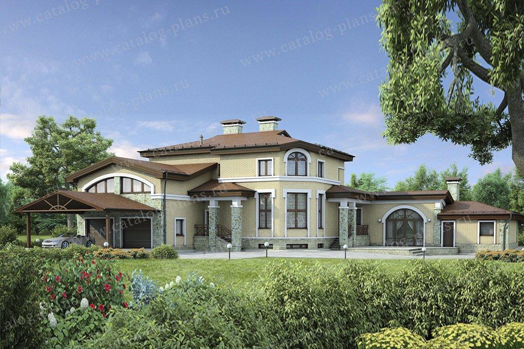 Проект жилой дом #37-63 материал - кирпич, стиль классический