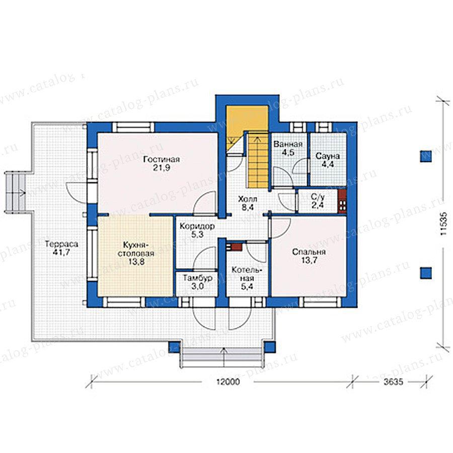 План 1-этажа проекта 38-76