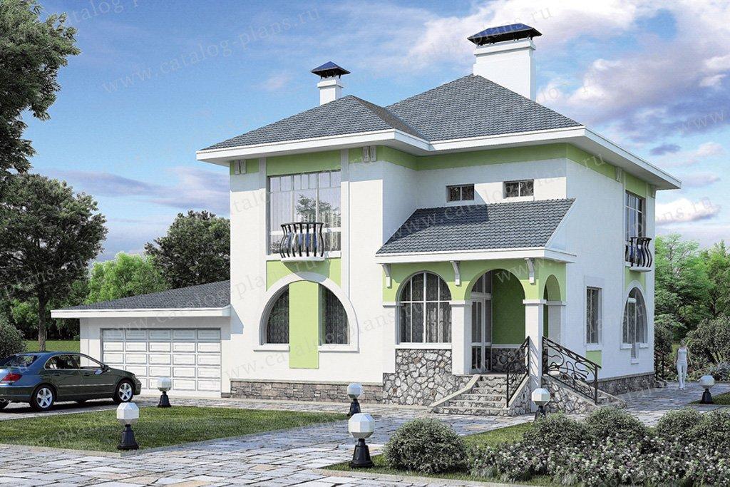 Проект жилой дом #37-08 материал - кирпич, стиль модерн