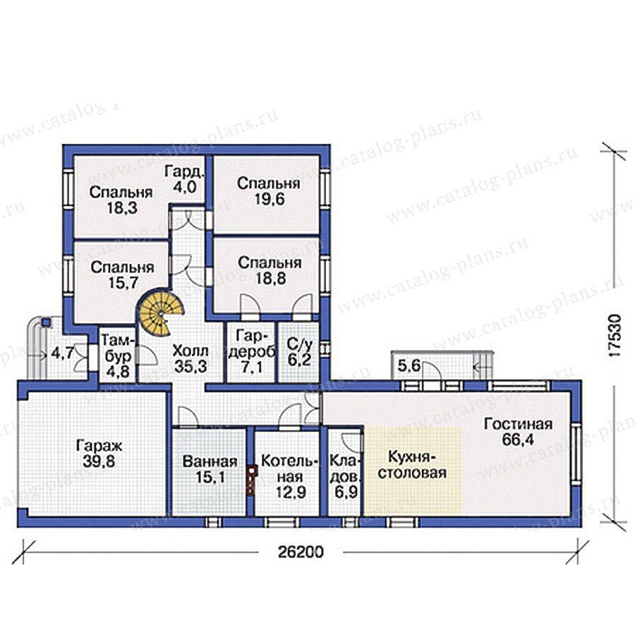План 1-этажа проекта 37-44