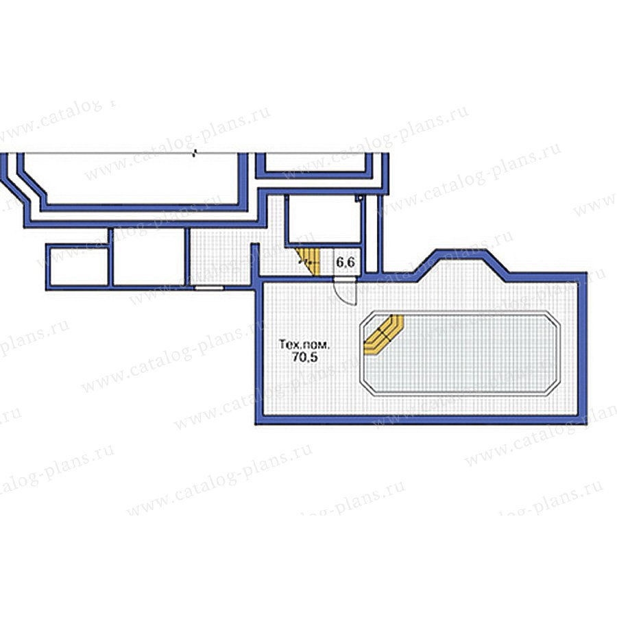 План 1-этажа проекта 37-64