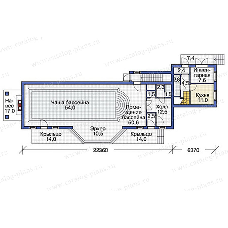 План 2-этажа проекта 37-65
