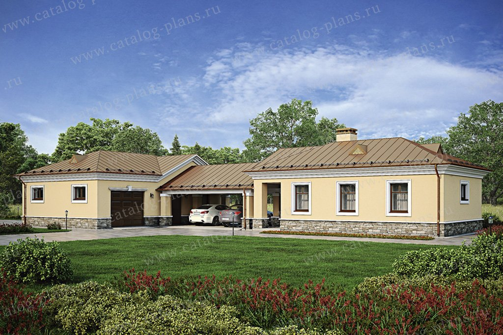 Проект жилой дом #39-48 материал - кирпич, стиль классический