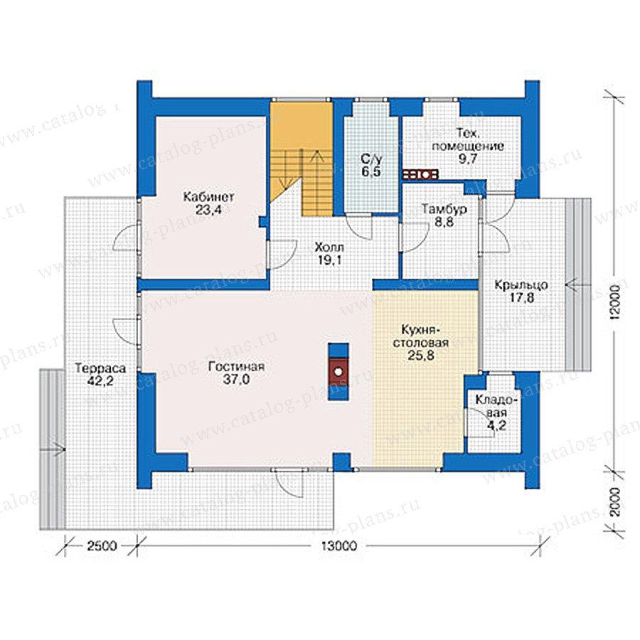План 1-этажа проекта 39-03