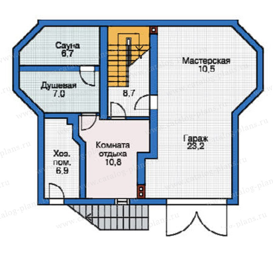 План 1-этажа проекта 37-58