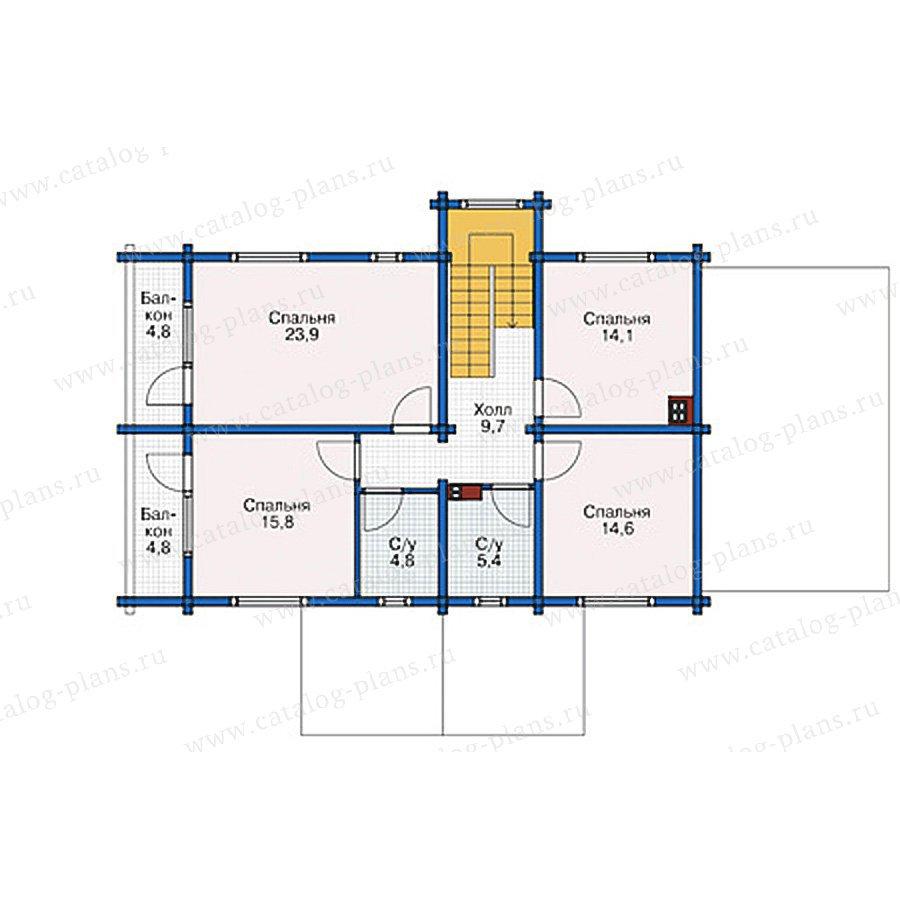План 2-этажа проекта 38-76