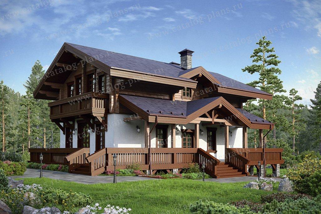 Проект жилой дом #38-77 материал - комбинированный, стиль скандинавский