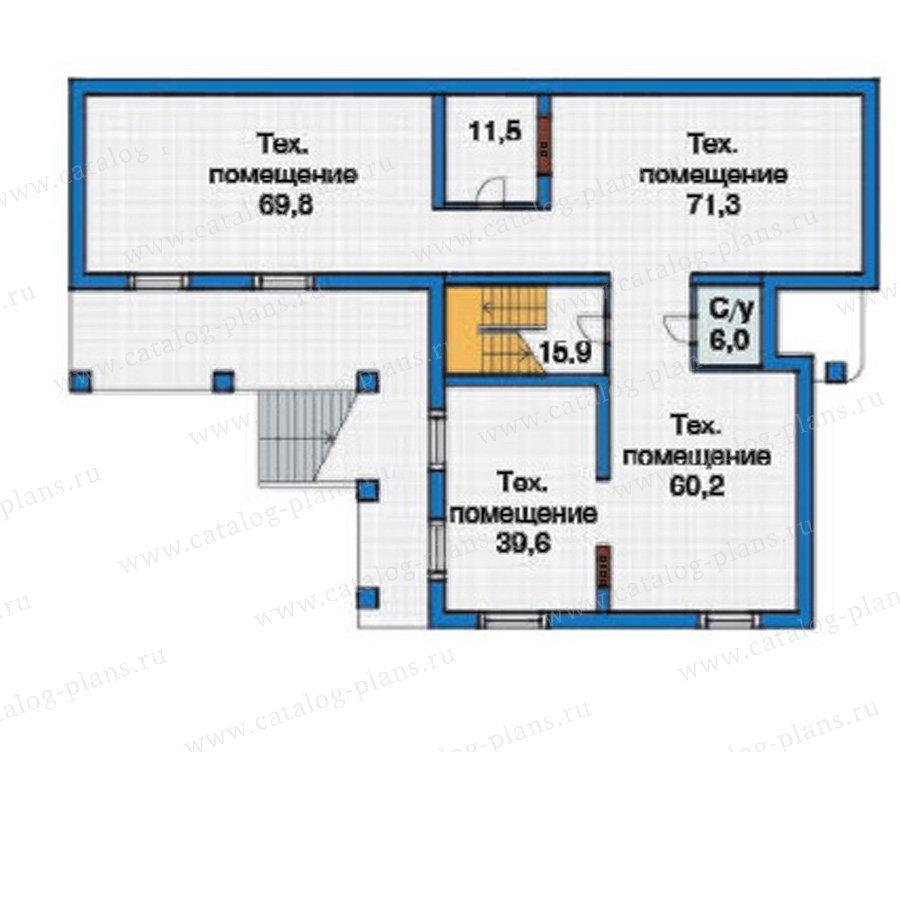 План 1-этажа проекта 38-23