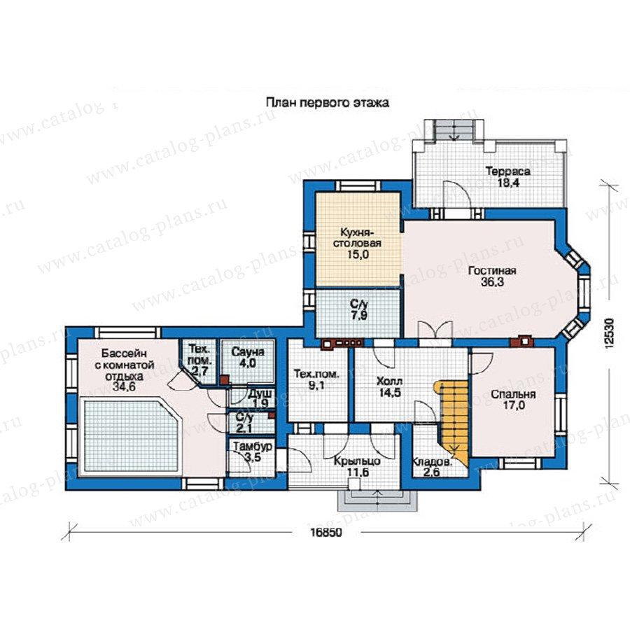План 1-этажа проекта 38-06