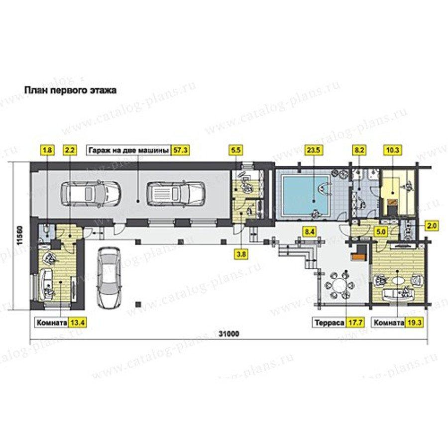 План 1-этажа проекта 70-72