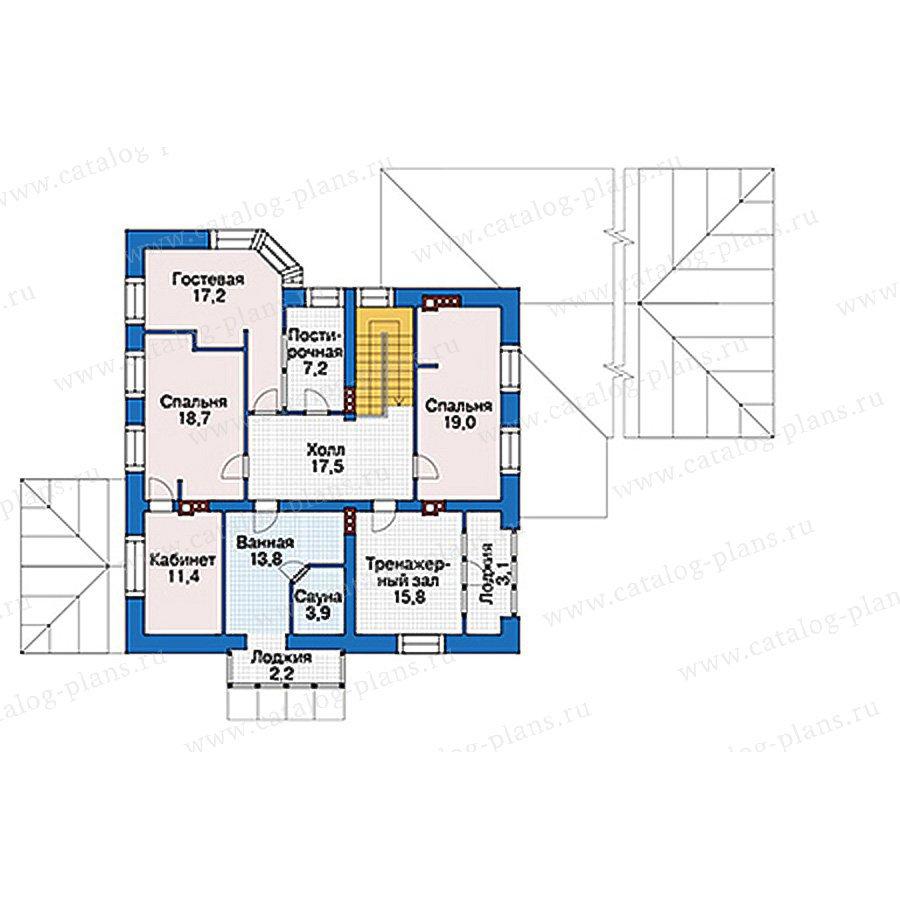 План 2-этажа проекта 39-63