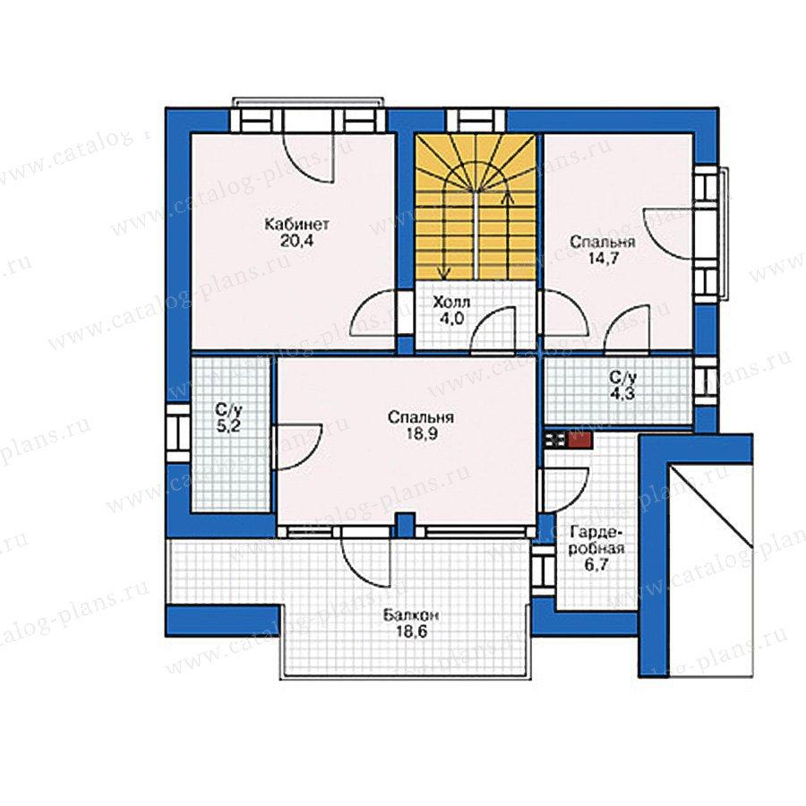 План 2-этажа проекта 38-88