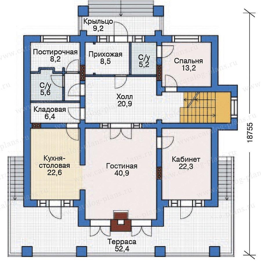 План 2-этажа проекта 38-28