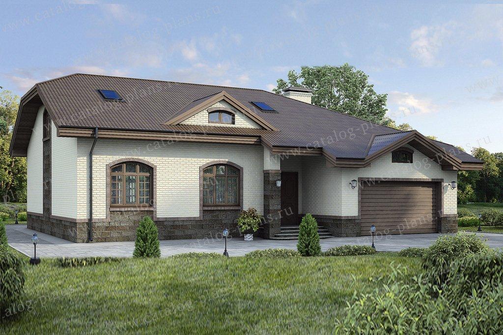 Проект жилой дом #37-44 материал - кирпич, стиль европейский