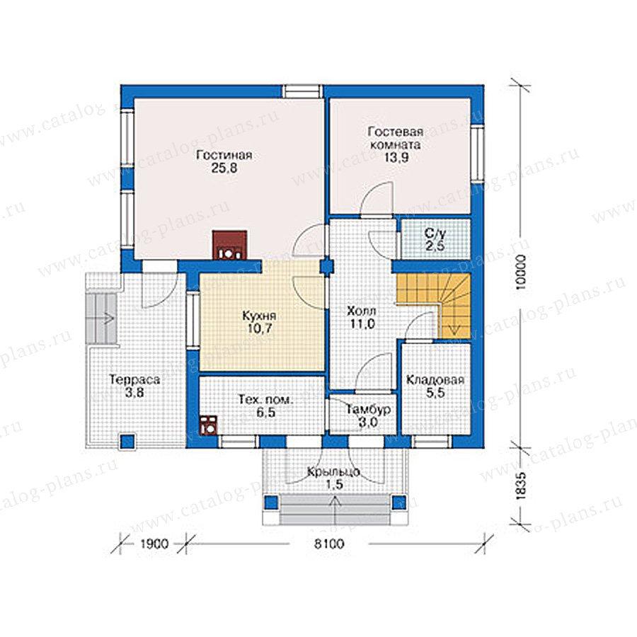 План 1-этажа проекта 38-92
