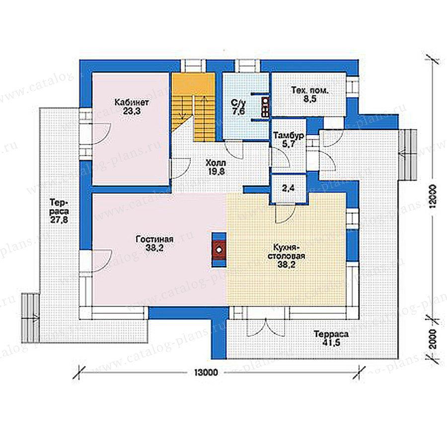 План 1-этажа проекта 39-24