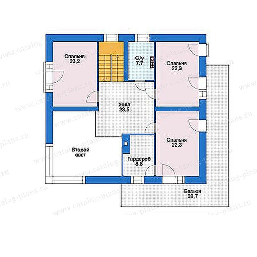 План 2-этажа проекта 39-24
