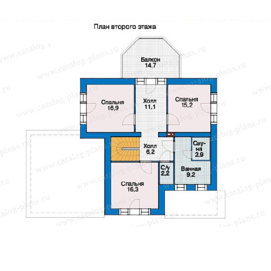 План 2-этажа проекта 37-08