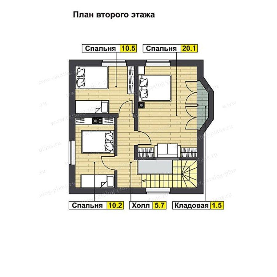 План 2-этажа проекта 70-70