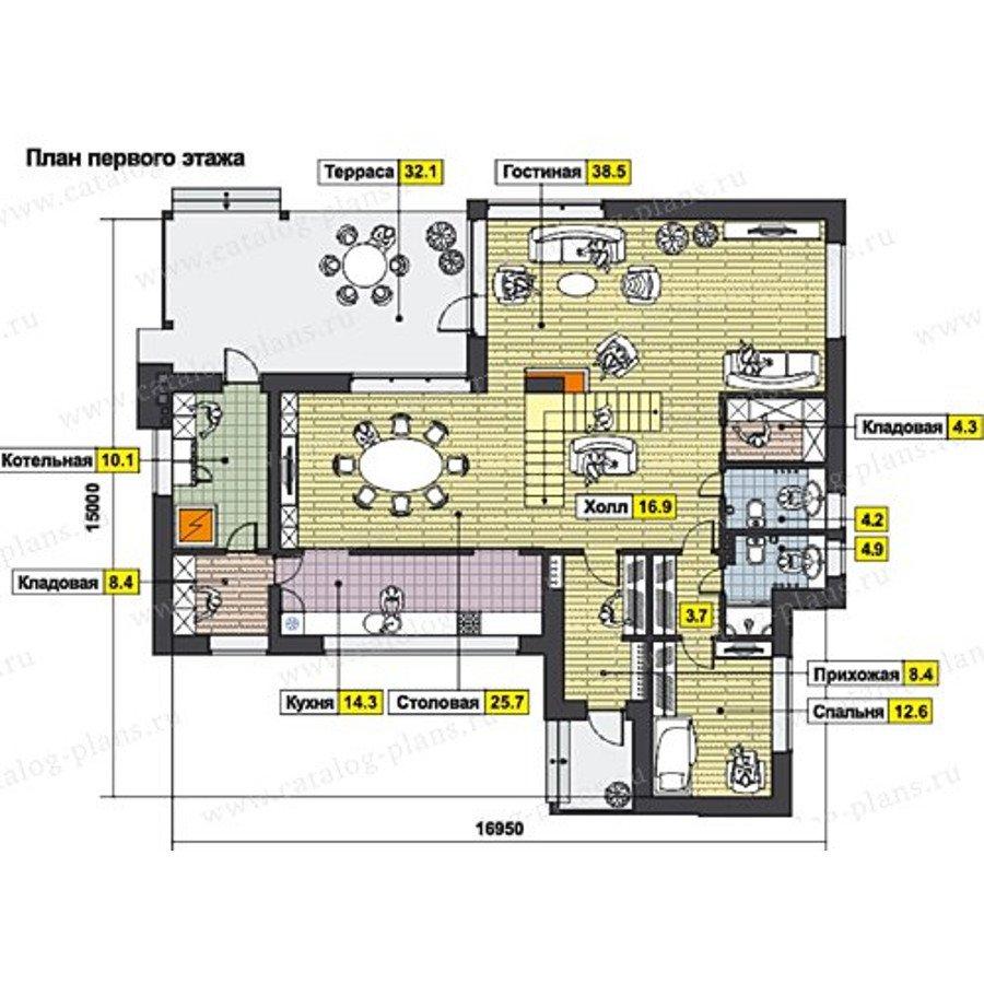 План 1-этажа проекта 60-66