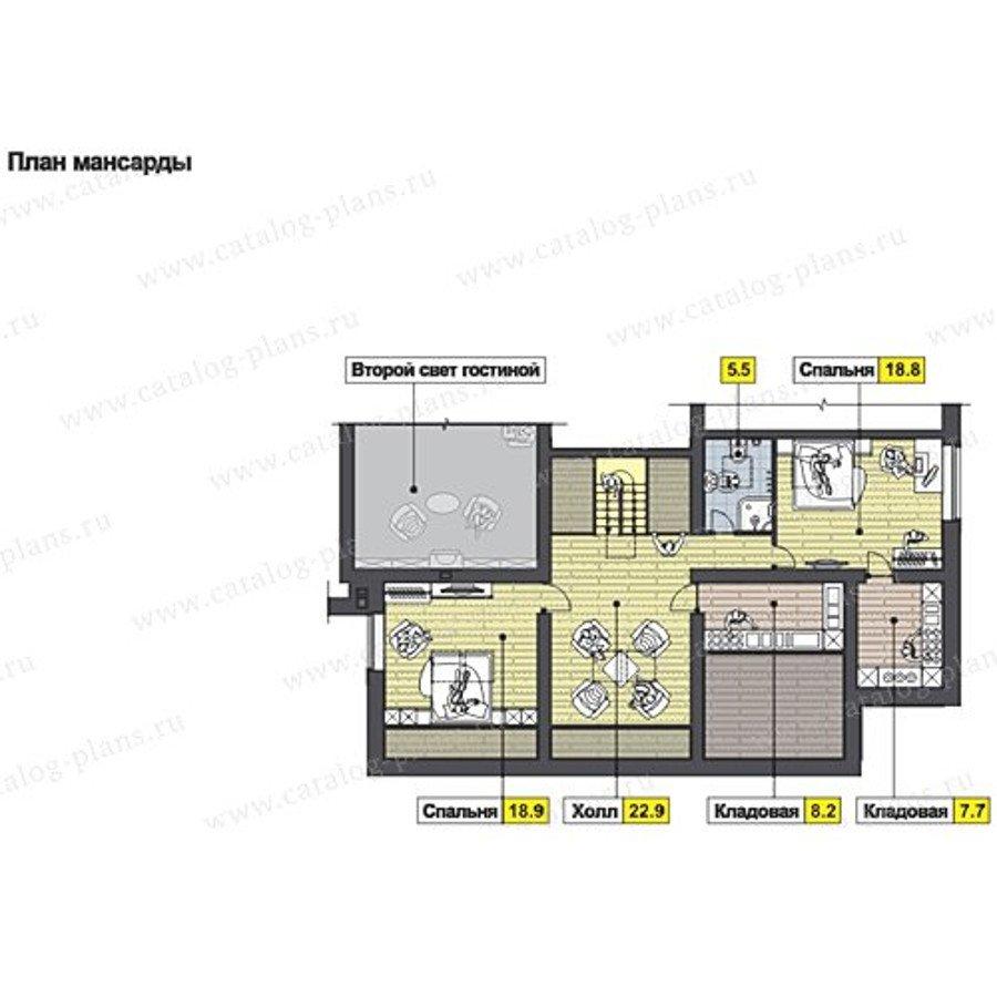 План 2-этажа проекта 60-65