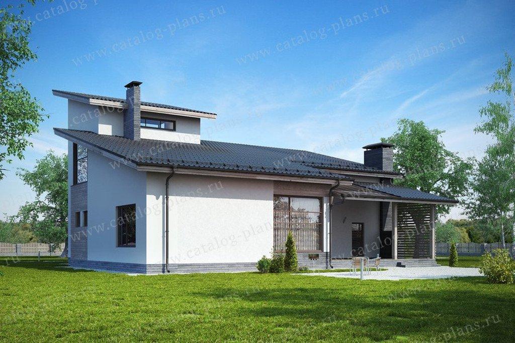 Проект жилой дом #60-66 материал - газобетон, стиль хай-тек