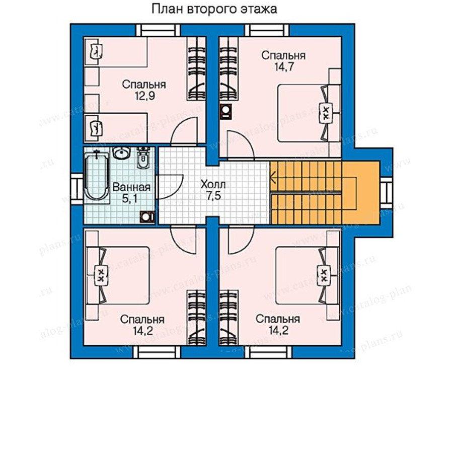 План 2-этажа проекта 60-75