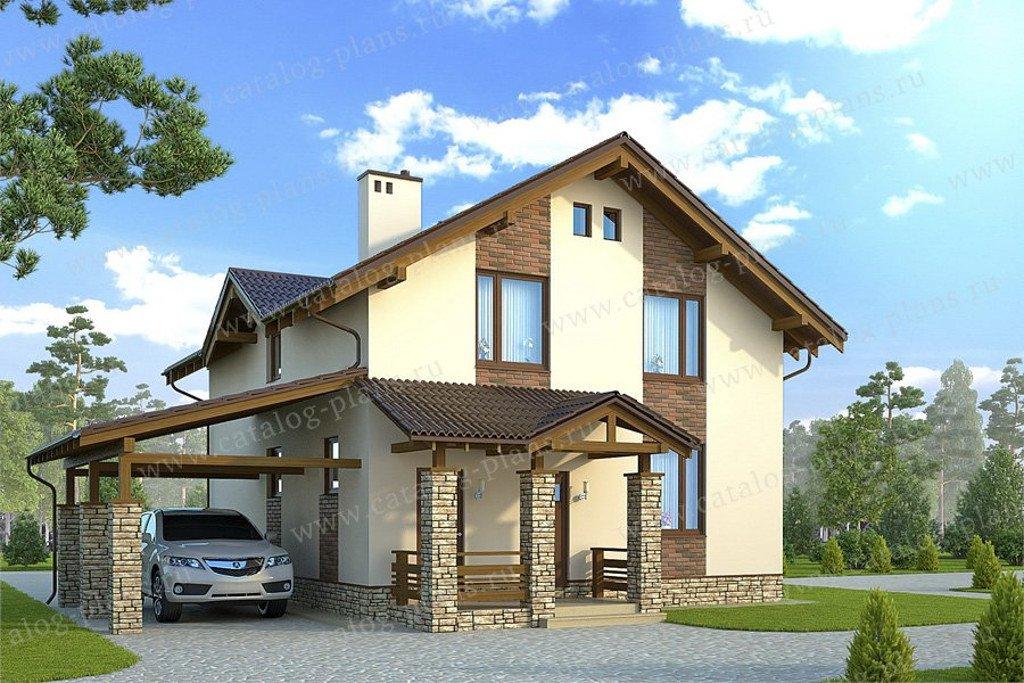 Проект жилой дом #60-75B материал - газобетон, стиль современный