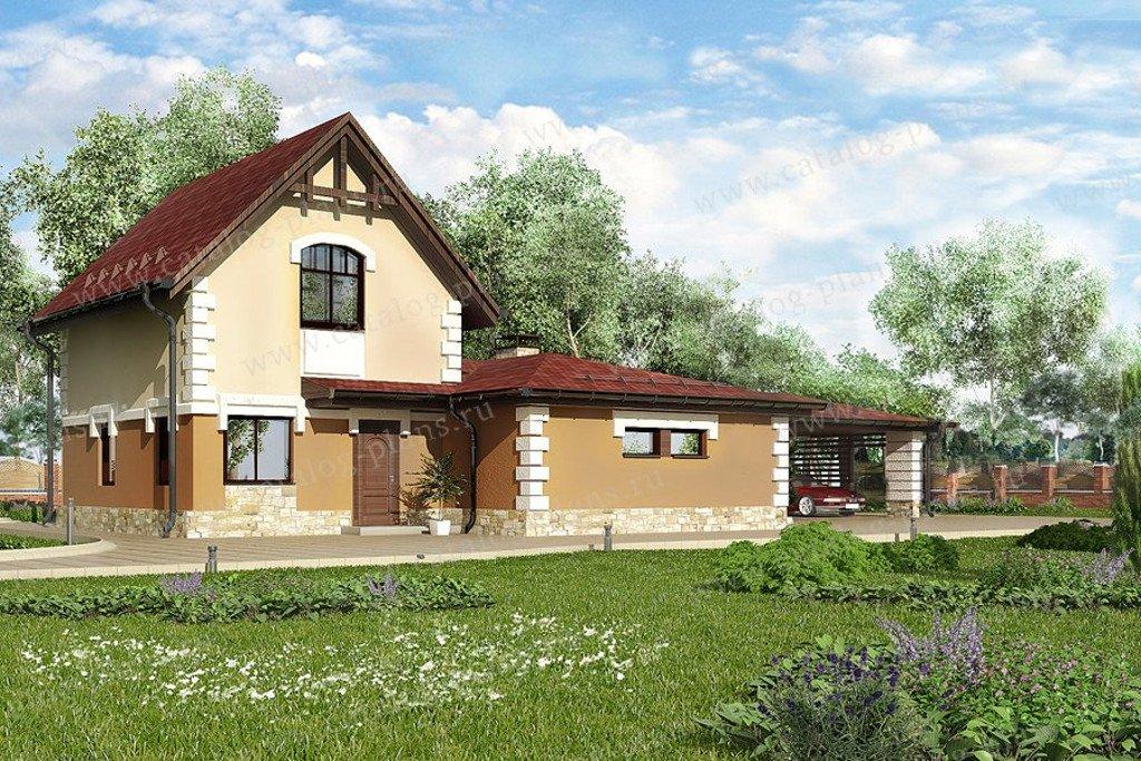 Проект жилой дом #60-70 материал - газобетон, стиль европейский