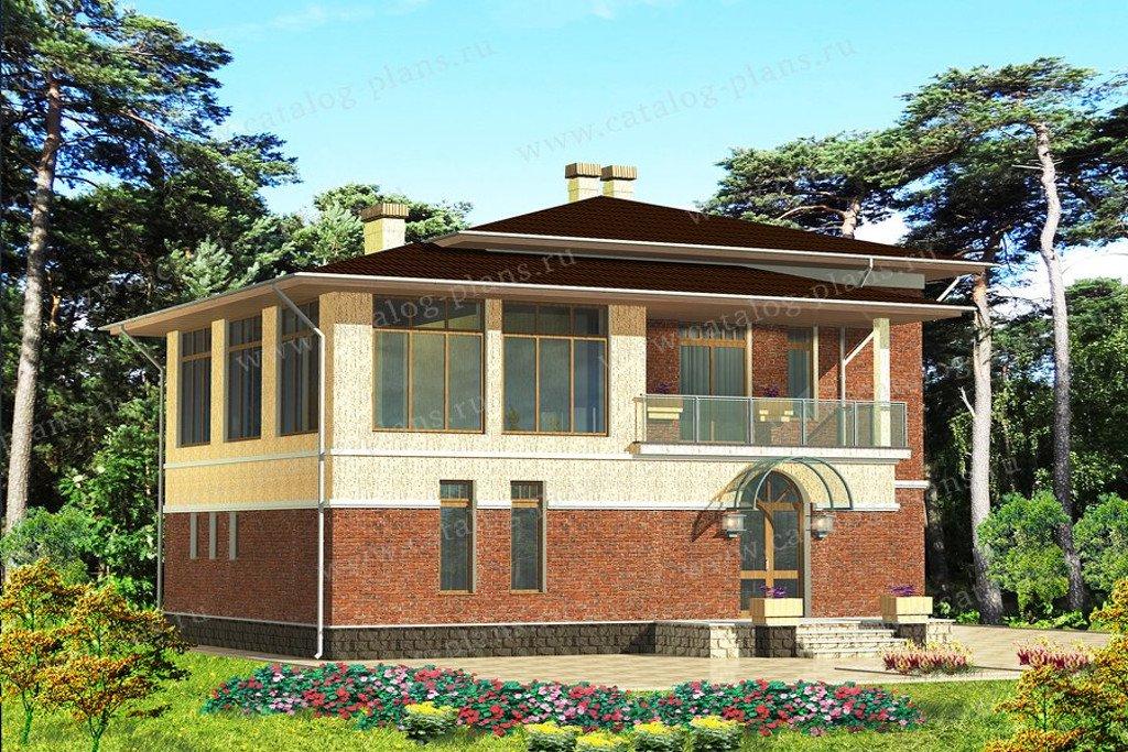 Проект жилой дом #60-73 материал - газобетон, стиль современный