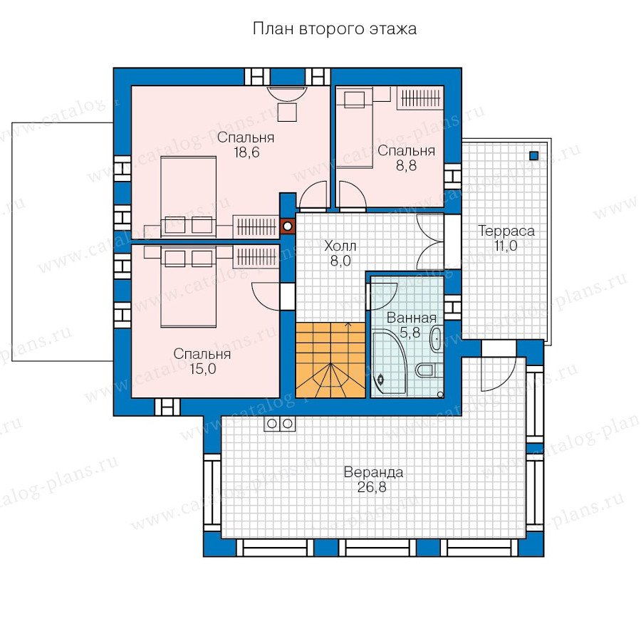 План 2-этажа проекта 60-73