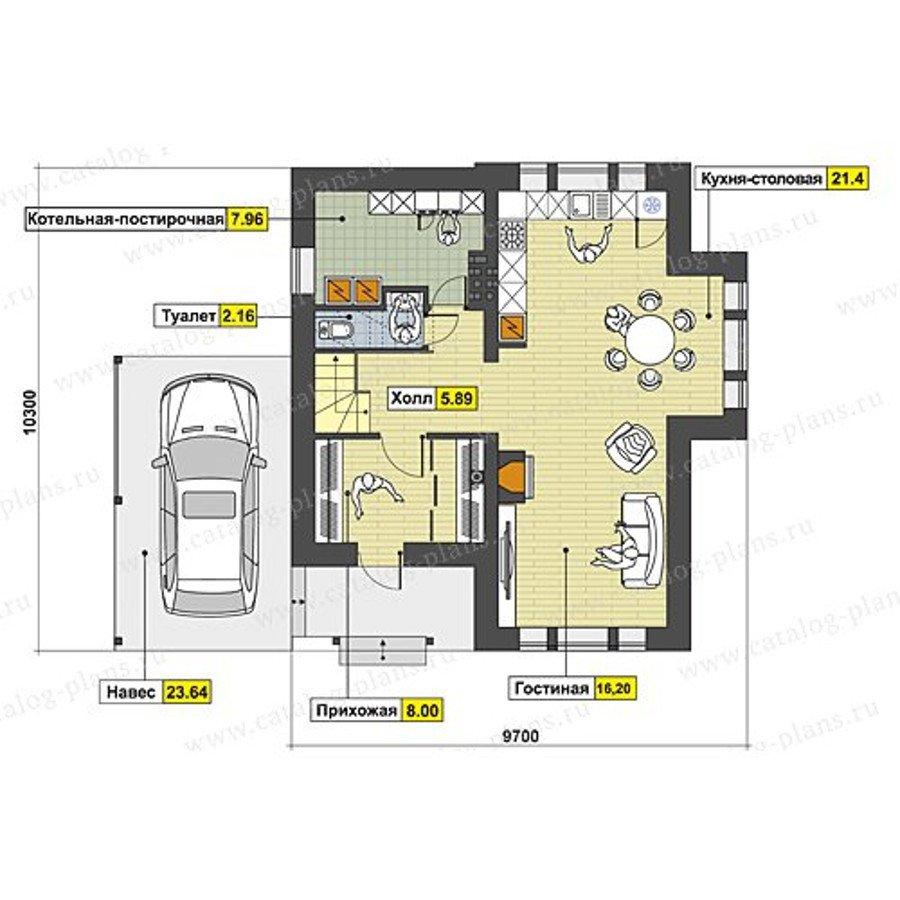План 1-этажа проекта 60-71