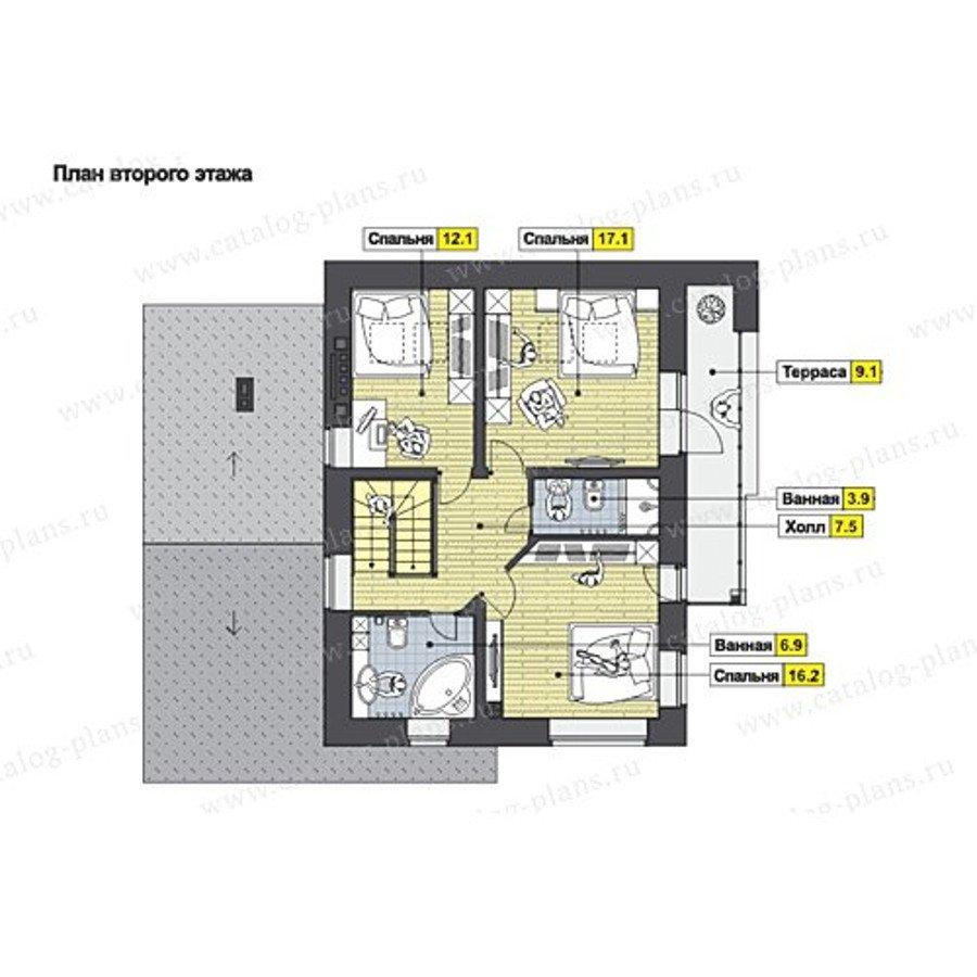 План 2-этажа проекта 60-61K