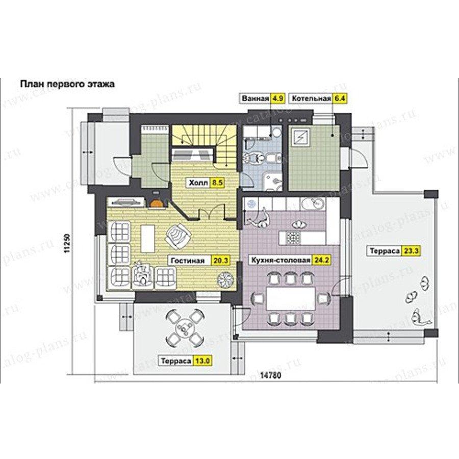 План 1-этажа проекта 60-61