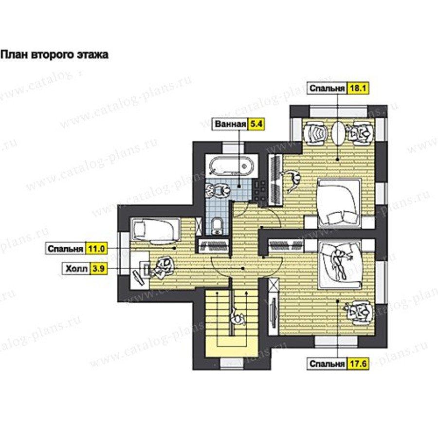 План 2-этажа проекта 60-63A